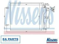 Condenser, air conditioning for NISSAN NISSENS 940069