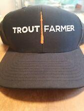 Trout Farmer Trucker Hat NWOT Fishing Flyfishing Salmon Steelhead