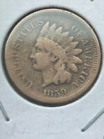 1859 Indian Head Cent - Exact Coin Pictured - Free Shipping