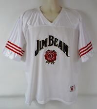 Official Jim Beam Whiskey Men's L White Mesh Jersey, Stitched #80 (Large)