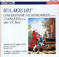 Mozart Konzert für Cembalo - KV242, KV107 Huguette Dreyfus CD Japan 1985 Denon