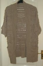 A  LOVELY MONSOON WOMENS BEIGE CARDIGAN  UK SIZE M