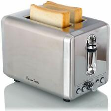 Fortune Candy 2 Slice Stainless Steel Bread Toaster with Extra Wide Slots Silver