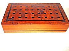 Commerce Équitable Fait Main thuya bois marqueterie Boîte à Bijoux du Maroc