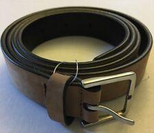 PAUL SMITH Tan Spanish Leather Minimal Belt Buckle Nubuck Spain 40 NWT