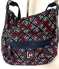 TOMMY HILFIGER - TRAINING PLUS LOGO NYLON NAVY CROSSBODY BAG, RETAIL $78