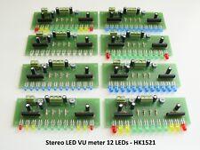 Stereo LED VU meter 12 LEDs - Fully Assembled Kit HK1521