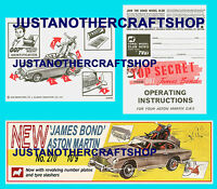 Corgi Toys 270 James Bond Instruction Leaflet & Poster Shop Sign Aston Martin