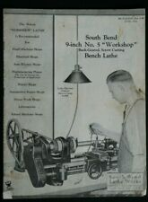 "1934 South Bend Lathe Bulletin No. 5-W, 9-inch ""Workshop"" Lathe Issue"