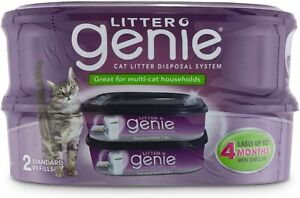 Litter Genie Cat Litter Disposal System Standard Refill 2 Pack New