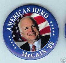 John McCAIN 2008 pin 3 in American HERO