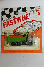 1970's Playart Fast Wheels, Leyland Dump Truck, Green & Silver  New on Card