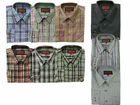 Mens Formal Office Casual Work Long Sleeve Shirt Top 100% Cotton