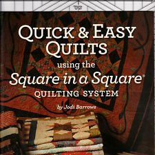 QUICK & EASY QUILTS Square in a Square Technique NEW RULER + BOOK SET Barrows