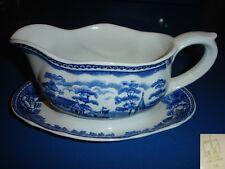 Arabia Finnland Finland landscape blue blau Keramik Souciere gravy boat pottery