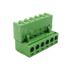 20 pcs 5.08mm Pitch 300V 16A 6P Poles PCB Screw Terminal Block Connector Green