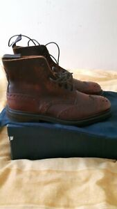 trickers stow country boots kudu leather