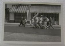 1950'S PANAMA INDEPENDENCE DAY COSTUMES MUSICAL BIG HATS DRUM PARADE OLD PHOTO