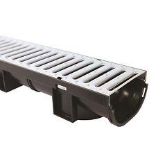 Everhard Industries EasyDRAIN COMPACT CHANNEL+ Galvanised Metal Grate, 80mm x 1m