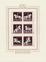 Block 400 Jahre Spanische Reitschule 1972 wunderschön postfrisch Österreich