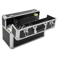 anndora Werkzeugkoffer 24L Präsentationskoffer Ziharmonikafach Schwarz