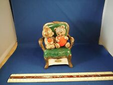 "Valentines Day Bears In Chair ""Love Makes The World Go Round"" Music Box"