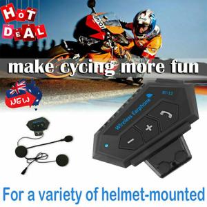 Wireless Motorcycle Helmet Headset Intercom Motorbike Headphone Bluetooth 5.0