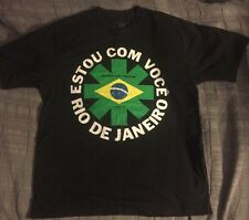 Red Hot Chili Peppers Tshirt Sz L ESTOU COM VOCE 2011 RioDeJaneiro BRAZIL