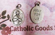 St John Vianney - Cure D'Ars - pray for Us -Italian Silver tone Ox 1 inch Medal