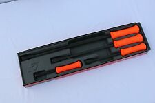 Snap On Tools Pry Bar Set, Striking Handle 4 PC. Orange  # SPBS704AO Brand New
