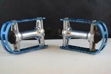 VP Victor 450 9/16 pedals set old school bmx Vintage Anodized blue alloy nos