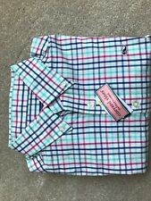 Vineyard Vines Men's L/S Cranberry Wolfish Check Slim Fit Whale Shirt