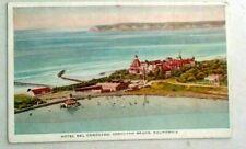 Vintage 1910s prelinen postcard of Hotel Del Coronado, Coronado Beach, Californi