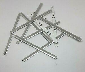 Aluminum Nose Bridge Strips Bendable for Face Masks UK Seller 10 pieces