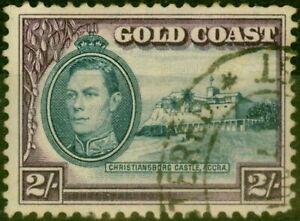 Gold Coast 1940 2s Blue & Scarlet SG130a Fine Used