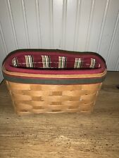New Listing2004 Holiday Helper Basket - Longaberger W/ Liner And Protector