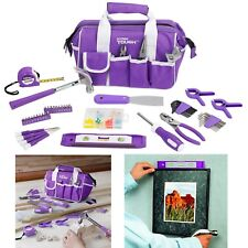 53-Piece Purple Mixed Tool Set DIY Woman Carry Bag Repair Projects Tools Driver