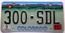 Colorado 2011 License Plate NICE QUALITY # 300-SDL