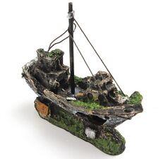 ornamento acquario SOMMERSA Steamboat PESCE VASCELLO NAVE RELITTO VASCA Grotta