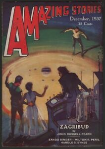Amazing Stories 1937 December.  Pulp