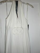 NWT White Marilyn Monroe Halter dress V neck maxi dress size medium