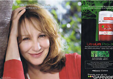 PUBLICITE ADVERTISING 094 2008 GARNIER avec Nathalie Baye (2 pages)