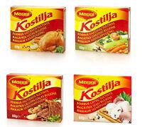 MAGGI KOSTILJA Chicken Vegetable Beef Mushroom Bouillon Broth Soup Cubes