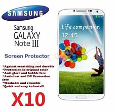 New Screen Protector Film for Samsung Galaxy Note3 III Bulk Wholesale Lot X 10