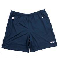Nike New England Patriots On-Field Football Shorts Navy Blue White Men's M-3XL
