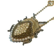 Authentic Swarovski Beetle Insect Magnetic Long Necklace Ladies Gift Boxed