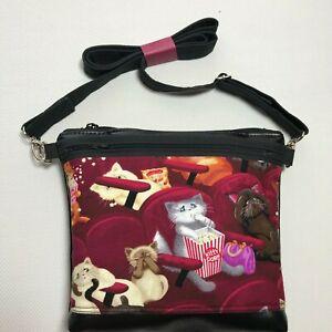 Crossbody Purse Bag Handmade Cats Handbag Vinyl Bag Boho Hobo Bag Shoulder bag