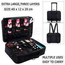 Cosmetic Bag Makeup Brush Case Nail Storage Box Toiletry Organizer Artist Travel