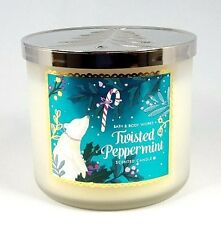 Bath and Body Works 3 Wick Scented Candle TWISTED PEPPERMINT 14.5 oz -
