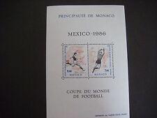 Monaco 1986 World Cup Mexico Miniature Sheet MS 1786 MNH Cat £12.00